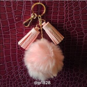 Accessories - Sale✨Brand New Faux Fur Pom Keychain with Tassels