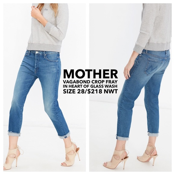 6930366c848924 MOTHER👖Vagabond Crop Fray in Heart of Glass Wash