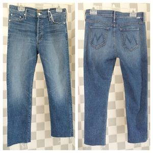87ee2027b210aa MOTHER Jeans - MOTHER👖Vagabond Crop Fray in Heart of Glass Wash