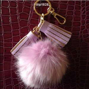Accessories - Sale✨New Faux Fur Pom Keychain with Tassels