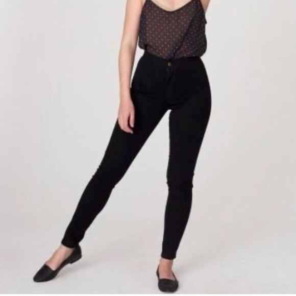 77% off American Apparel Pants - AA Black Easy Jeans from Jamie's ...