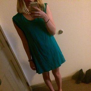 H&M Dresses - Teal t-shirt dress