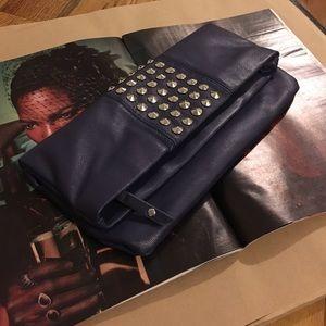  Steve Madden Purple Studded Clutch purse bag