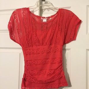 Tops - Coral colored blouse