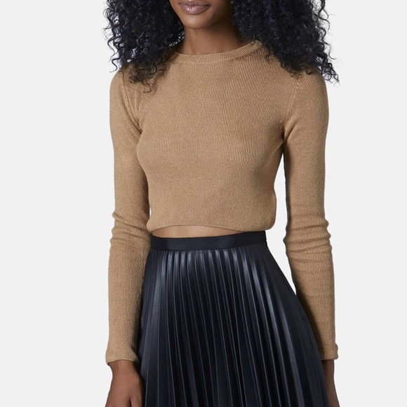32% off Topshop Sweaters - 5🌟Rated Topshop Crop Sweater - Camel ...