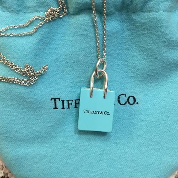 64ed808e0 Tiffany & Co. Jewelry | Tiffany Shopping Bag Necklace | Poshmark