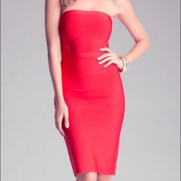 dbfb1ed6968 Bebe Drop Needle Tube Dress. AKA  strapless dress