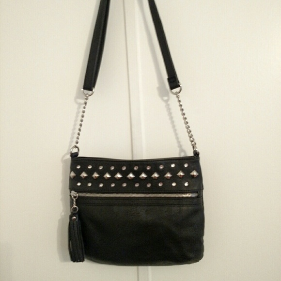 5b29c9f51651 Michael Kors Sloan Large Studded Shoulder Bag- Black. Carlos Santana black  studded shoulder bag gorgeous