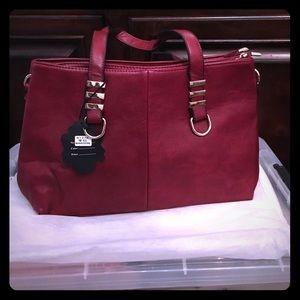 Read leather handbag