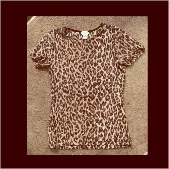 59a6cbda2bea DOLCE AND GABBANA Tops   Dolce Gabbana Intimo Sheer Leopard Print ...