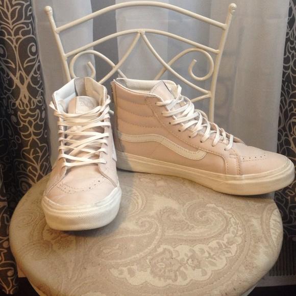 e073631702 Vans Shoes - Leather Sk8-Hi Slim Zip VANS