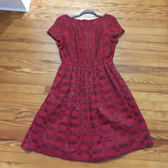 75 off anthropologie dresses amp skirts anthropologie red
