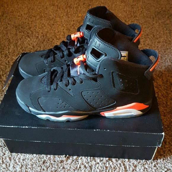 23% off Jordan Shoes - Authentic Jordan Retro 6 Black/Infrared GS