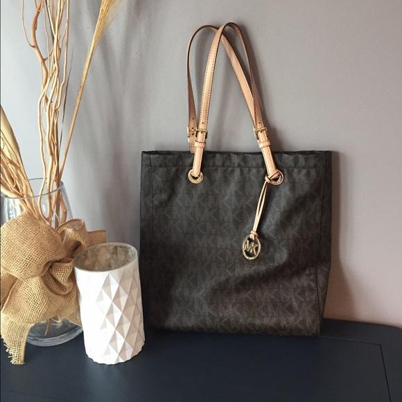 002725c32ec989 Michael Kors Bags | Tall Shoulder Bag Dark Brown | Poshmark