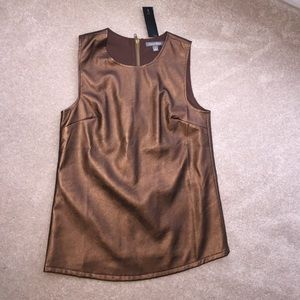 Tinley Road Vegan Leather Tank- Copper-M