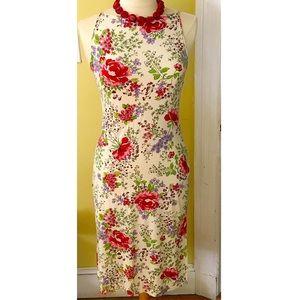 Benetton sleeveless floral dress.