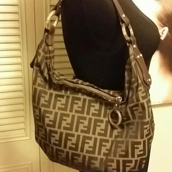 3ce6769a2190 FENDI Handbags - Authentic FENDI Hobo Canvas and Leather bag