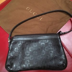 Authentic Leather Gucci Pouchette