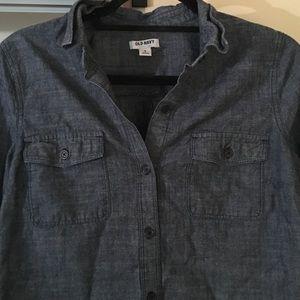 Dark denim old navy shirt