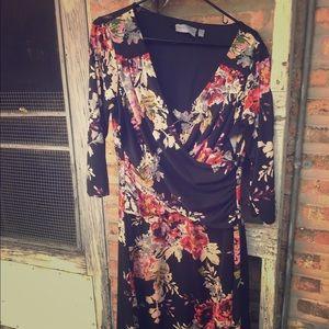 B slim Floral Print dress from Macy's. Size L.