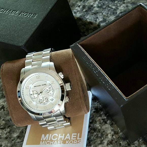 Men s Michael Kors 45mm silver Runway watch MK8086 af484c5891