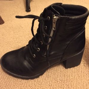 d2007e63cce Shoes - Chunky Heel Combat Boots