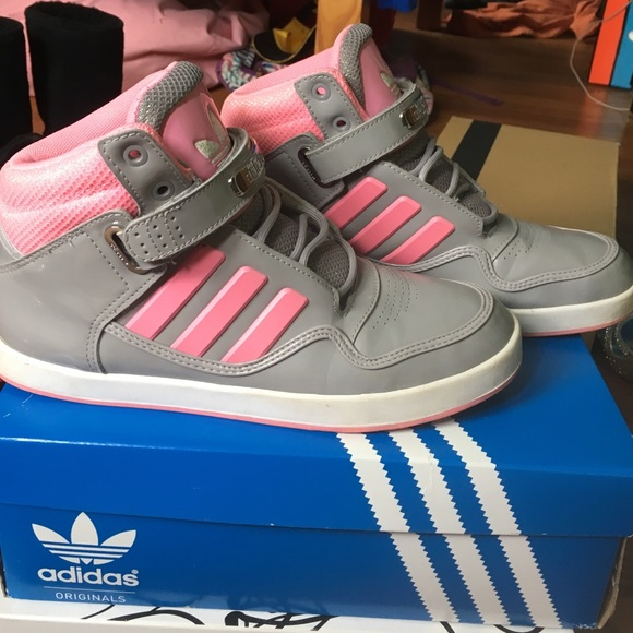 Adidas zapatos Greypink High Tops poshmark