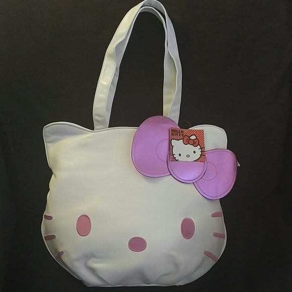 0339aad52366 NWT Hello Kitty Die Cut Face Handbag. NWT. Sanrio