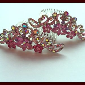 Accessories - Multi-stone Floral Hair Combs