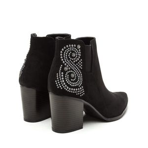 Shoes - Vegan Suede Ankle Booties