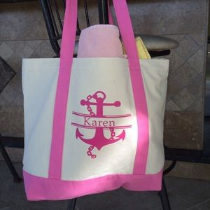 Handbags - ANY NAME, PERSONALIZED CANVAS TOTE, MADE TO ORDER