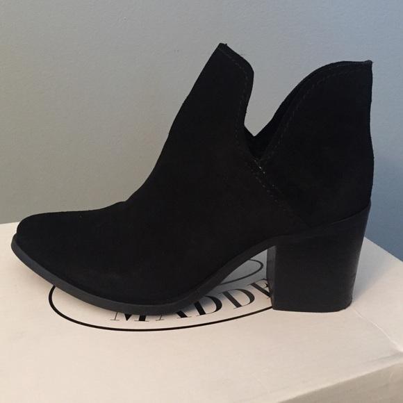 8da13d403 Steve Madden Shoes | Black Suede Poised Boots Size 8 | Poshmark