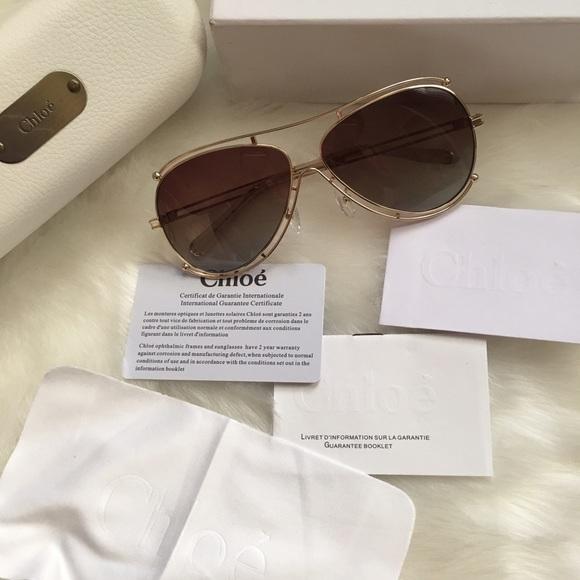 2917b0e1e1312 Chloe isidora aviator sunglasses