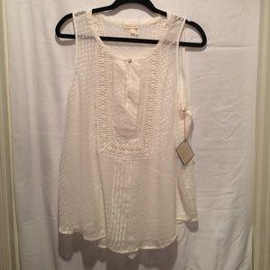 Off-white anthropologie blouse