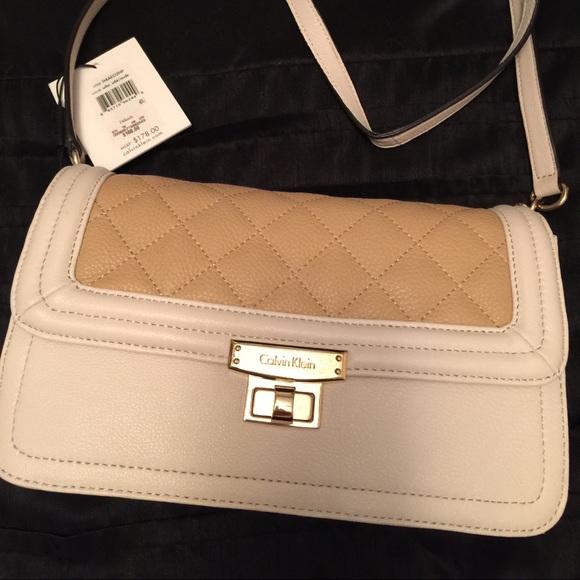27e613c790 Authentic Calvin Klein Two Tone Crossbody Bag.