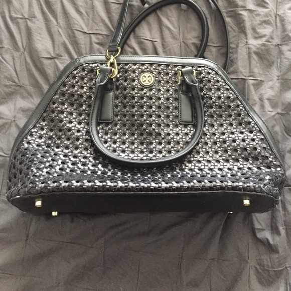 be23ed815a9 Tory Burch woven leather bag with adjustable strap.  M 5740d3f2f09282ef6b03d9c8