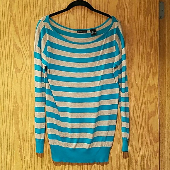 press Sweaters - PRESS sz Medium beige and blue sweater