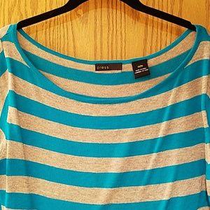 press Sweaters - PRESS sz Medium beige and blue sweater