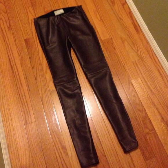 8b9950ac9751a Free People Pants | New Oxblood Vegan Leather | Poshmark