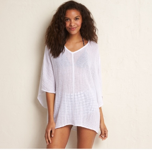 617a770f794 Aerie White Cotton Gauze Beach Cover Up