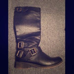 Black Tall Riding Boots