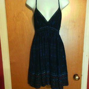 Urban Outfitters Blue Ethnic Print Boho Sun Dress