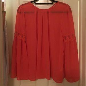 Ya Los Angeles Tops - Flowy coral blouse