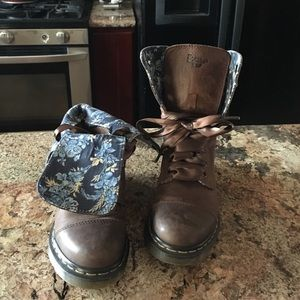 Brown doc martens; size 6 (barely worn)