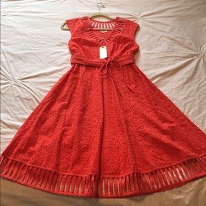 NWT Plenty by Tracy Reese Coral Dress
