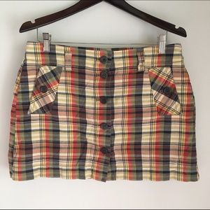 J. Crew madras mini skirt