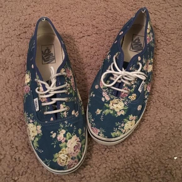 Floral vans authentic lo pro shoes 142f702213a5