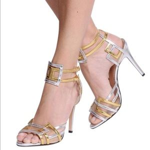 Charlotte Olympia Shoes - Charlotte Olympia NEW Metallic Sandal. Retail:$865