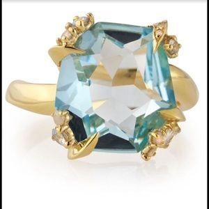 Alexis Bittar Jewelry - Alexis Bittar Blue Topaz Ring with diamonds.