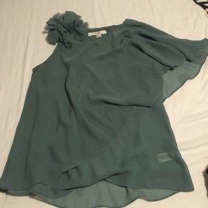 F21 green blouse s